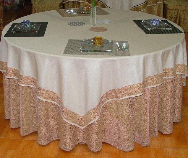 西安酒店餐厅布草台布椅套
