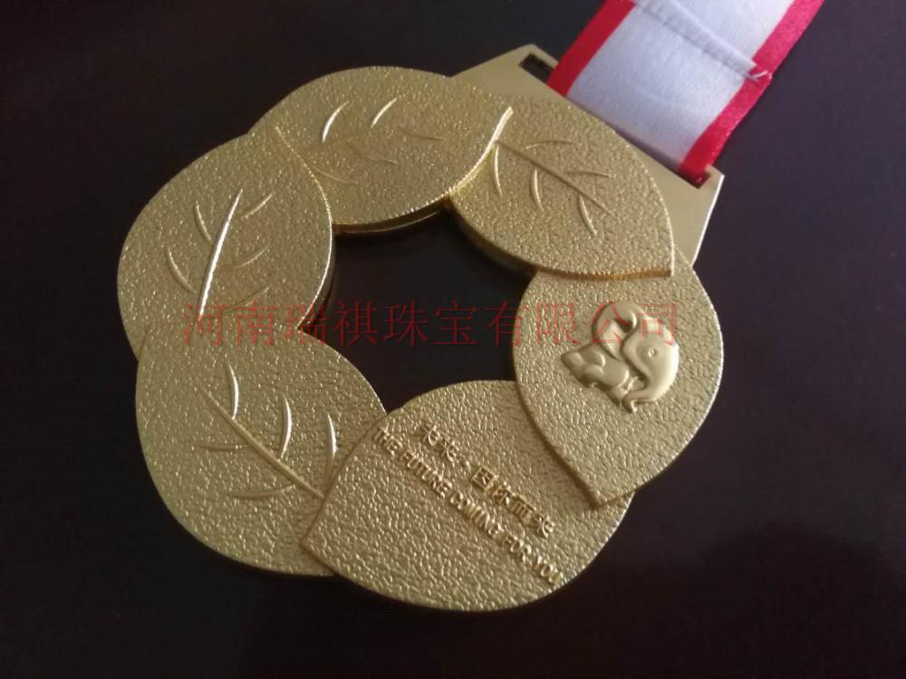 优秀员工金银奖牌定制、舞蹈比赛奖牌奖章制作、潢川金银奖牌定制