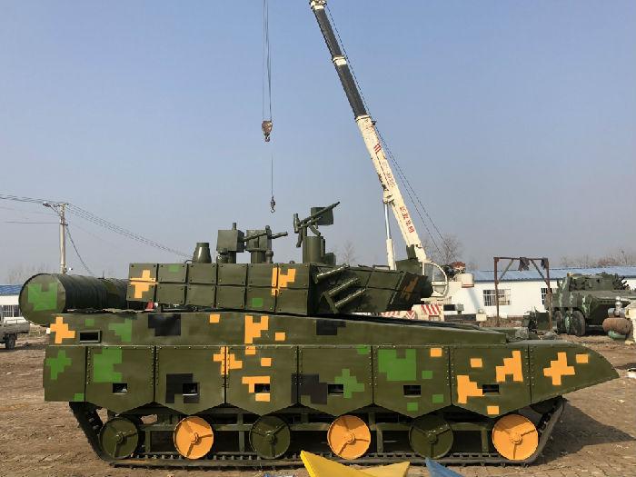 十一国庆节高端军事模型展览道具厂家动态坦克模型定做厂家