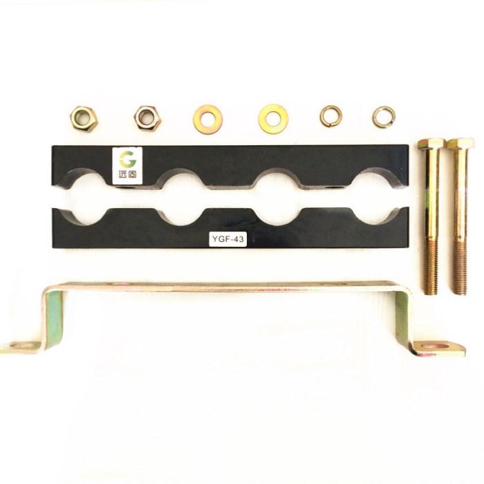 快速固定电缆夹具生产(图)、四孔电缆线夹安装、青海电缆线夹