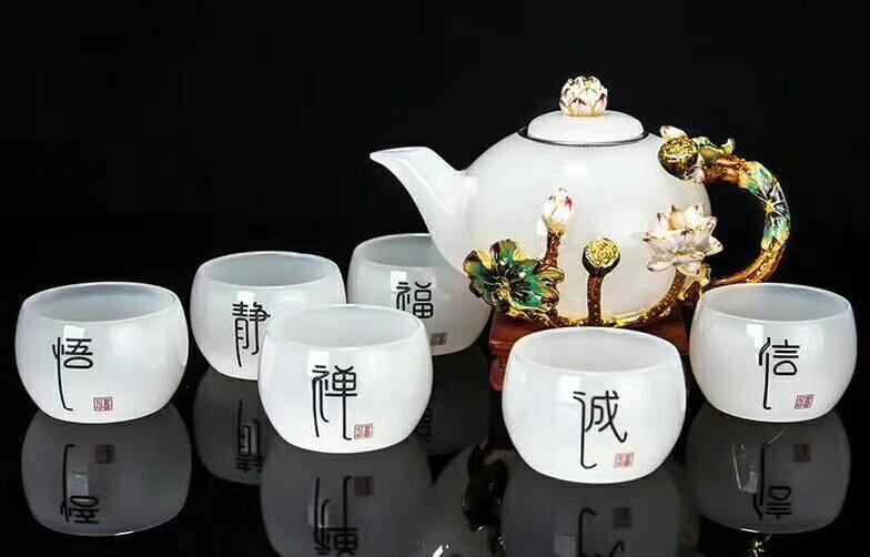 节庆礼品*档茶具,水晶金箔茶具(在线咨询),*档茶具