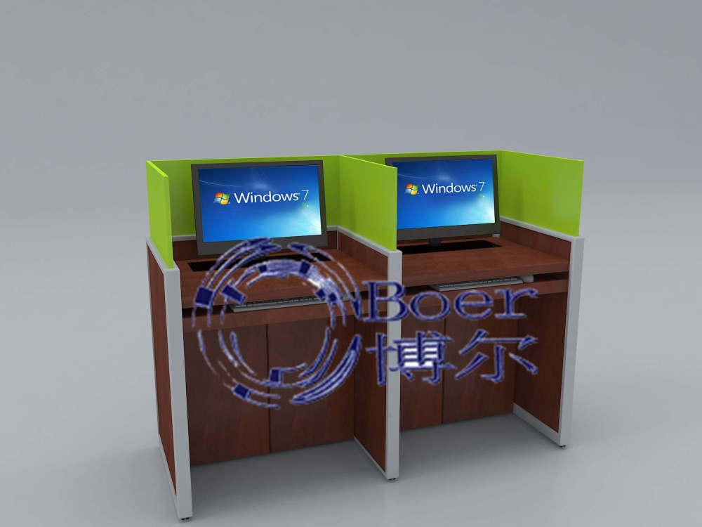 电动升降屏风电脑桌、济南升降屏风、广州博奥