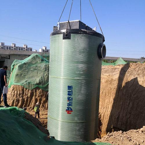 天津一体化泵站厂家定制出产玻璃钢预制泵站