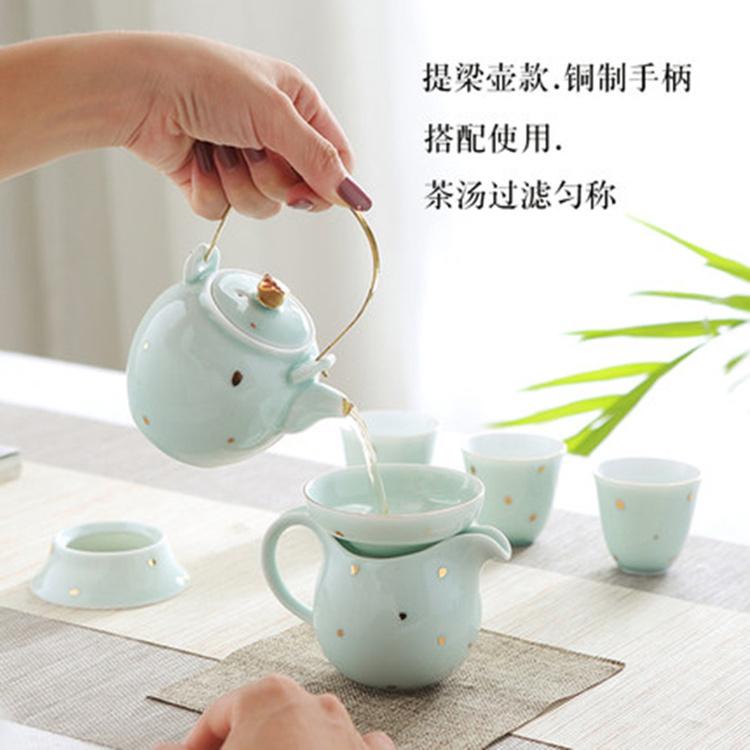 厂家直销家用陶瓷功夫茶具套装 创意手工茶杯中式办公室茶艺