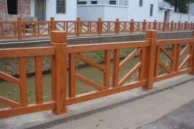 北字型仿木护栏950仿木护栏模具河提护栏景区护栏水泥制品厂家
