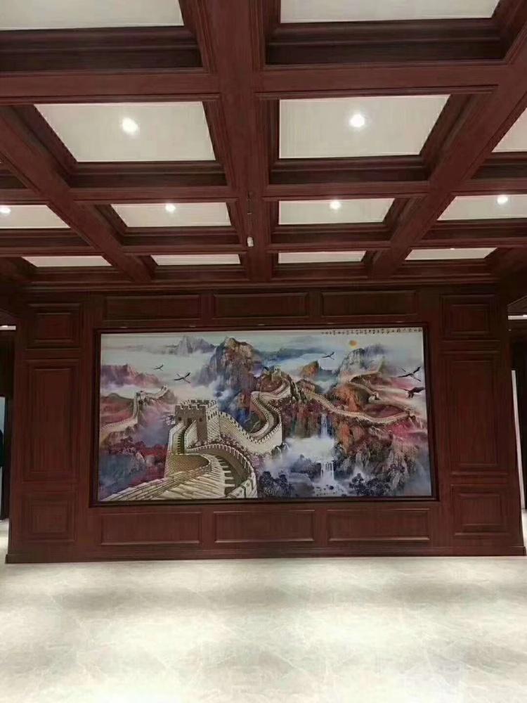 辽宁省竹木纤维板、临沂鸿源装饰建材、竹木纤维板吊顶效果图
