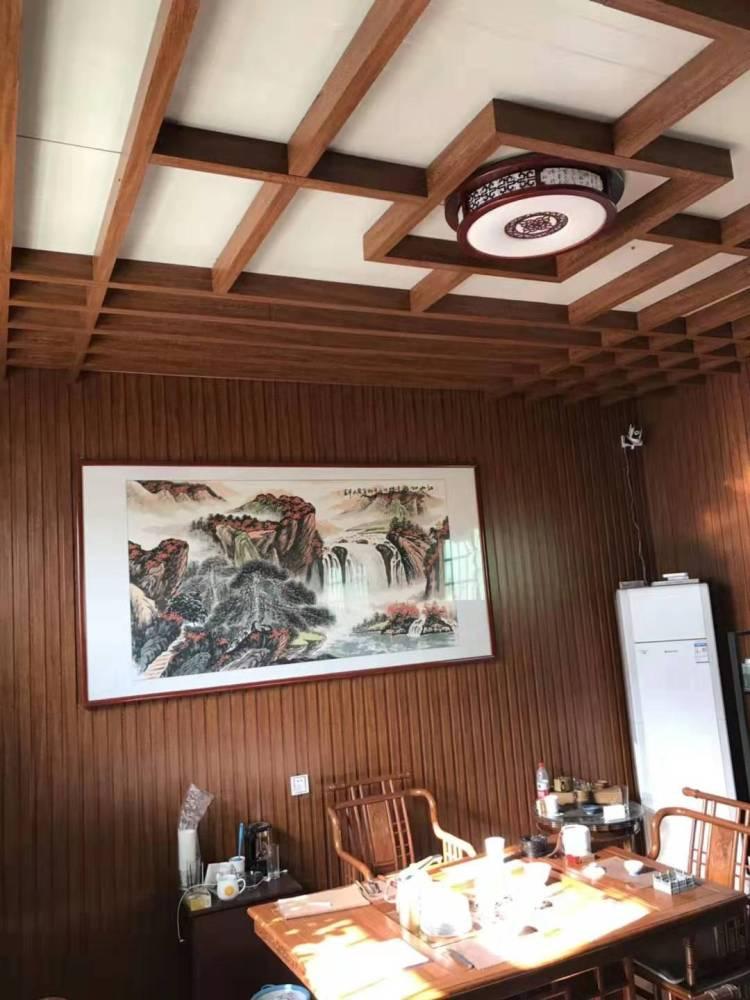 生态木电视背墙效果图、北京市生态木、临沂鸿源装饰建材(查看)