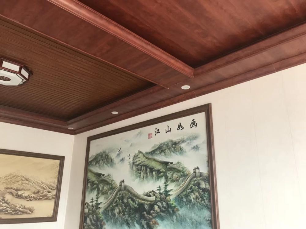 竹木纖維吊頂效果圖、通州區吊頂、臨沂鴻源裝飾建材