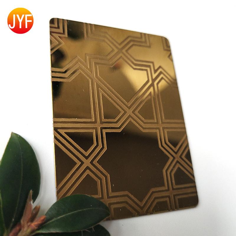 厂家定制不锈钢蚀刻板 高档镀铜板蚀刻电梯板