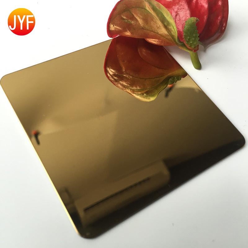 厂家直销钛金镜面不锈钢板 不锈钢钛金镜面板定制
