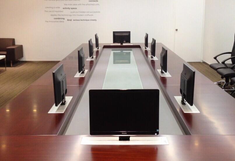 显示器升降会议桌、无纸化会议桌、怀化市会议桌