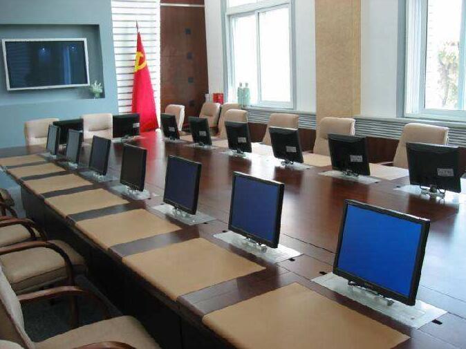 昭通市智能电脑桌、博奥11年品牌、板式翻转智能电脑桌