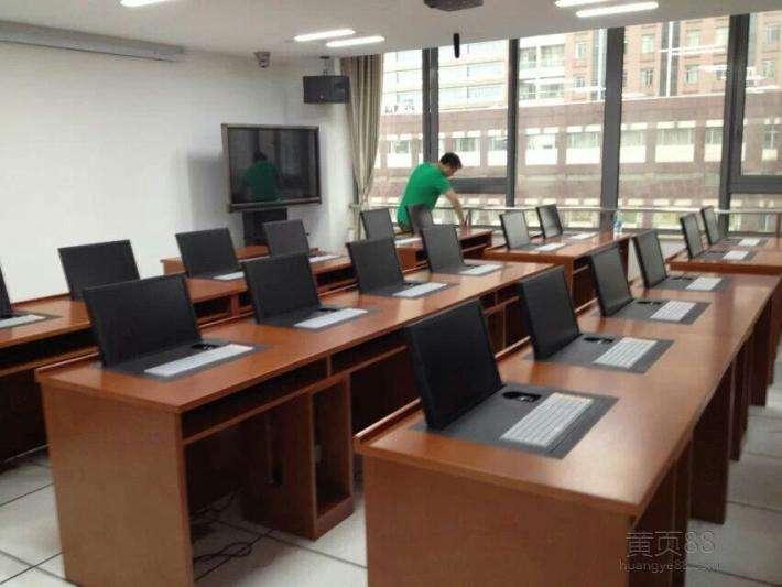 手动翻盖式电脑桌、广州博奥、牡丹江市翻盖式电脑桌