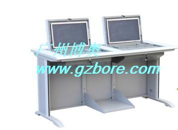 博奥11年老牌(图)、单人位嵌入式电脑桌、乌海市嵌入式电脑桌