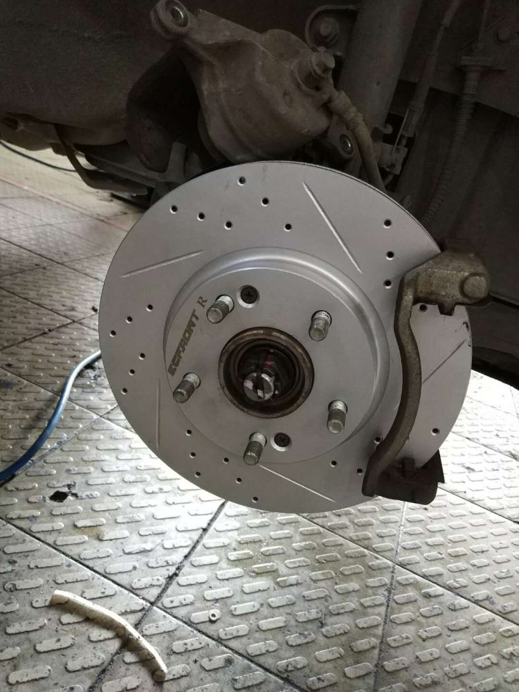 ECFRONT打孔划线刹车盘 高性能不抖动 起亚狮跑原厂替换