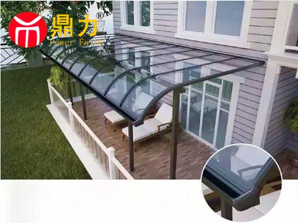 铝合金玻璃阳台棚厂家、鼎力质优(在线咨询)、安庆市阳台棚厂家