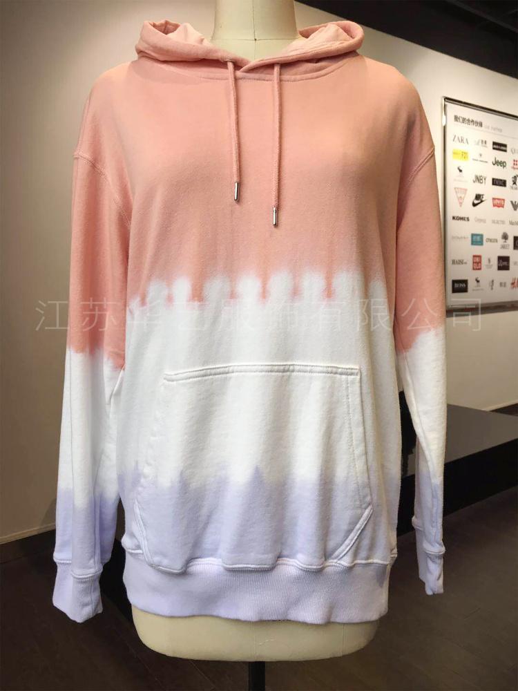 华艺扎染 纯手工艺术染整厂家加工定制爆款T恤卫衣 成衣染色