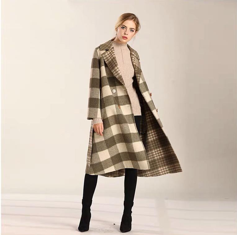 浙江品牌女装专柜【百格丽】双面羊绒大衣走份批发