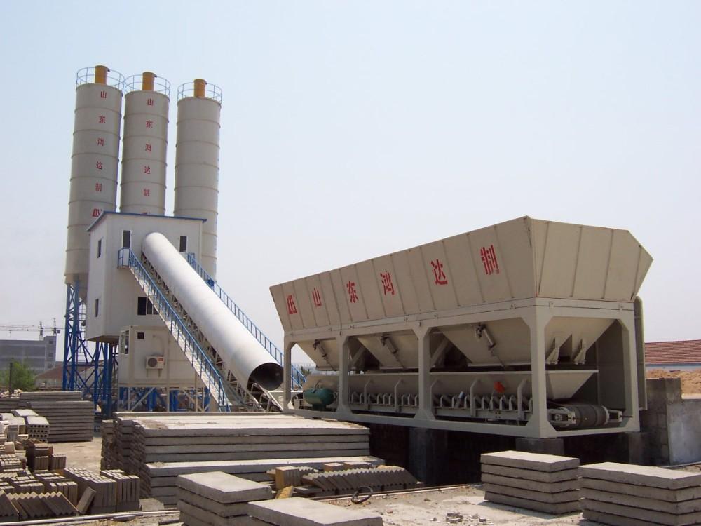 山东鸿达原厂直销供应移动式混凝土搅拌站,固定式混凝土搅拌站