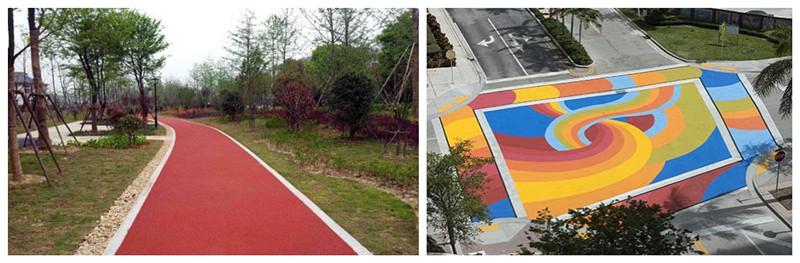 青海玉树路面改色喷涂剂施工周期短颜色持久