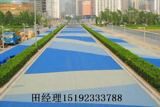 广西贵港彩色防滑路面单组分自主施工三注意