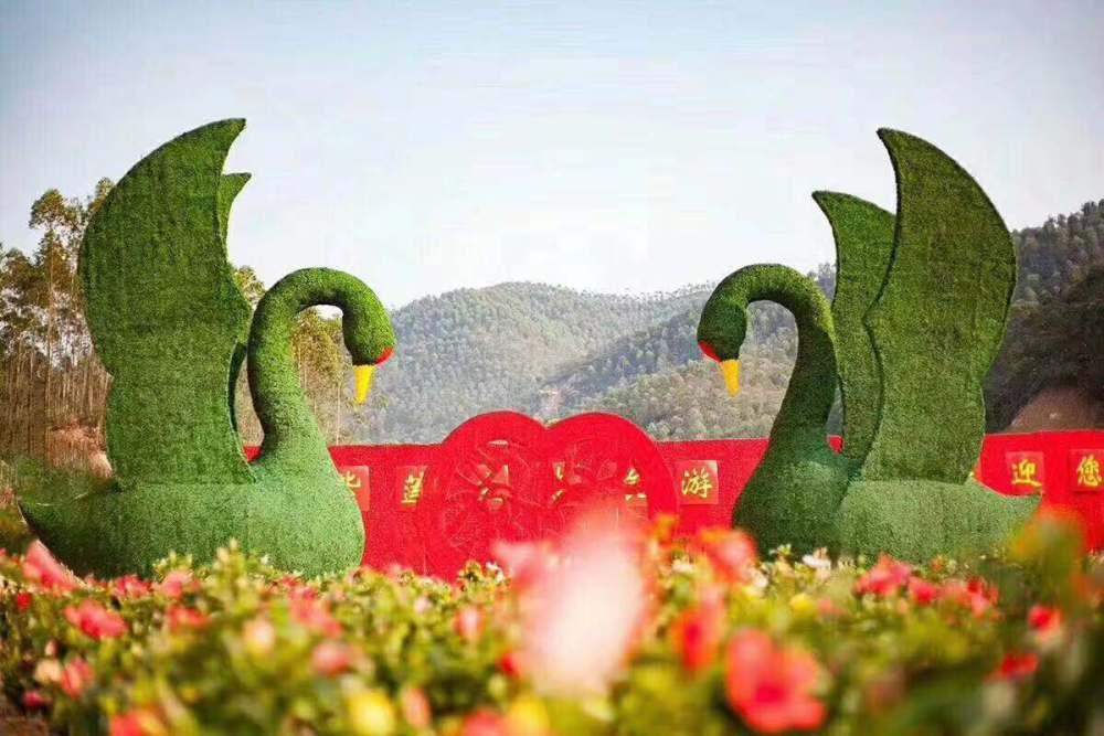 20119仿真绿雕、龙君、徐州市仿真绿雕