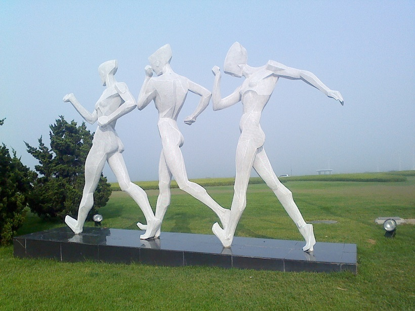 鄂州不锈钢体育运动雕塑 体育场馆雕塑 各种人物造型定制
