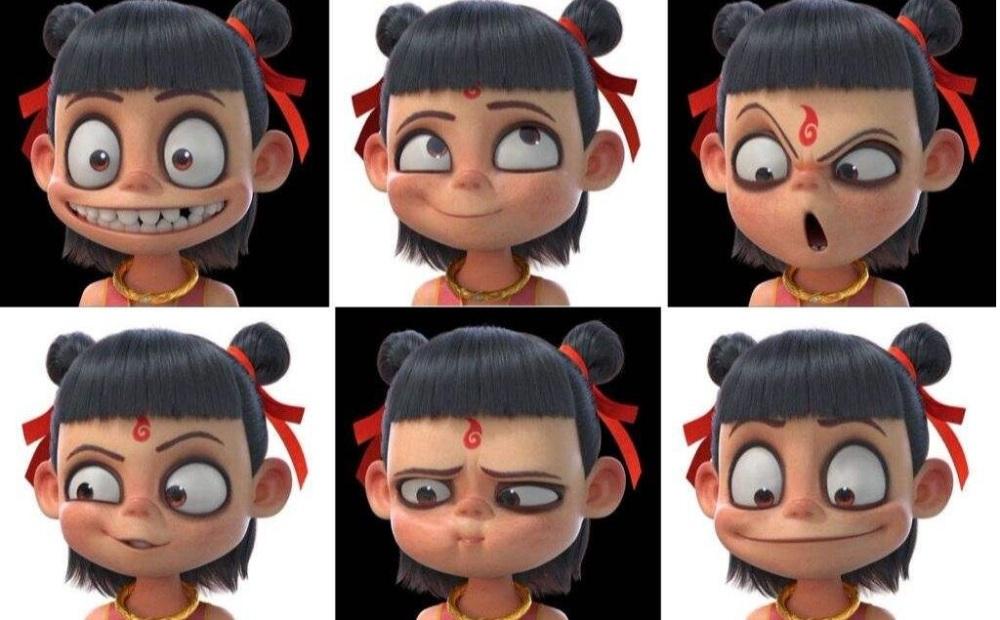 热销各种表情的哪吒 敖丙雕塑 电影卡通人物创意摆件