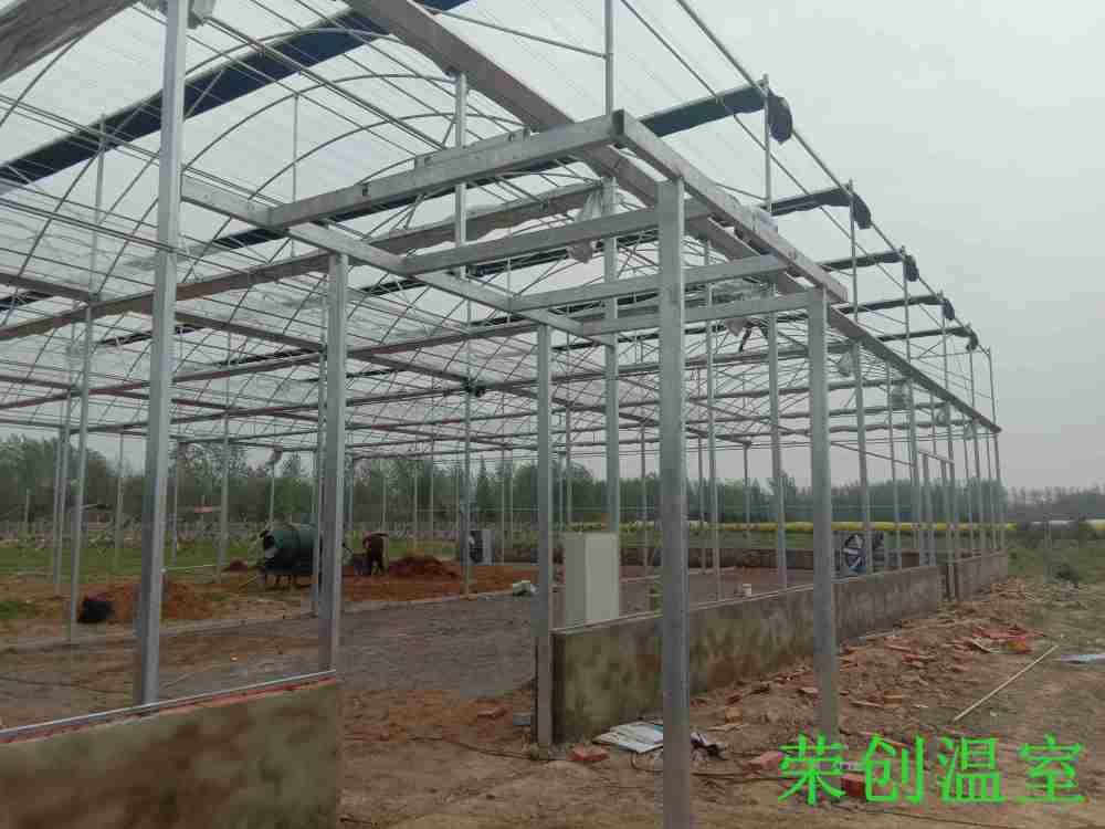 【吉林温室】连栋温室大棚  大棚建设-双层充气薄膜温室