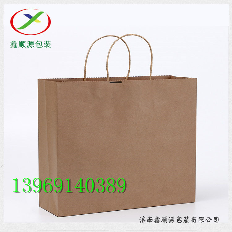 手提纸袋生产厂家,外卖打包袋定制,外卖牛皮纸袋