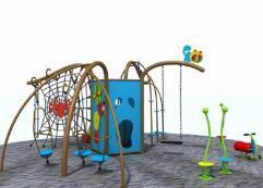 鞍山大型户外游乐设施 幼儿园多功能爬网 木架滑梯厂家直销