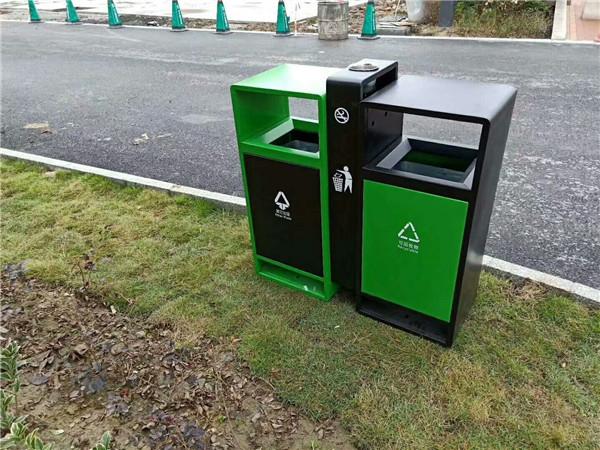 定制池州分类环保钢木垃圾桶 【304分类不锈钢垃圾桶】低价直销厂家
