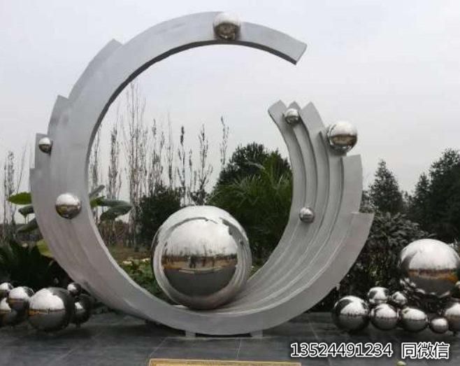 泉州酒店门口不锈钢大型珍珠雕塑 LED河蚌摆件