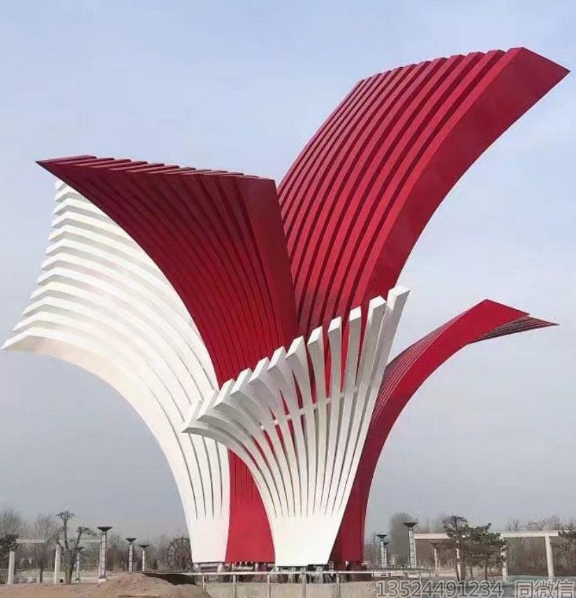 城市不锈钢大型建筑雕塑景观 抽象金属艺术雕塑造价
