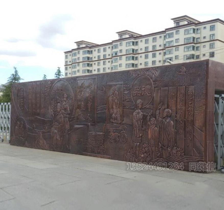 梧州工厂直销紫铜浮雕 锻铜浮雕 玻璃钢仿铜人物批发