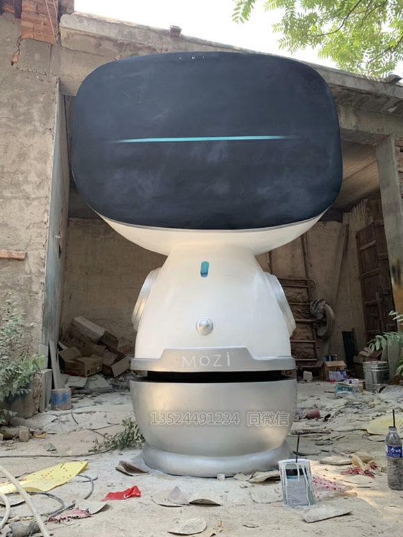 商场插电机器人外壳定制 可移动智能机器人外壳雕塑