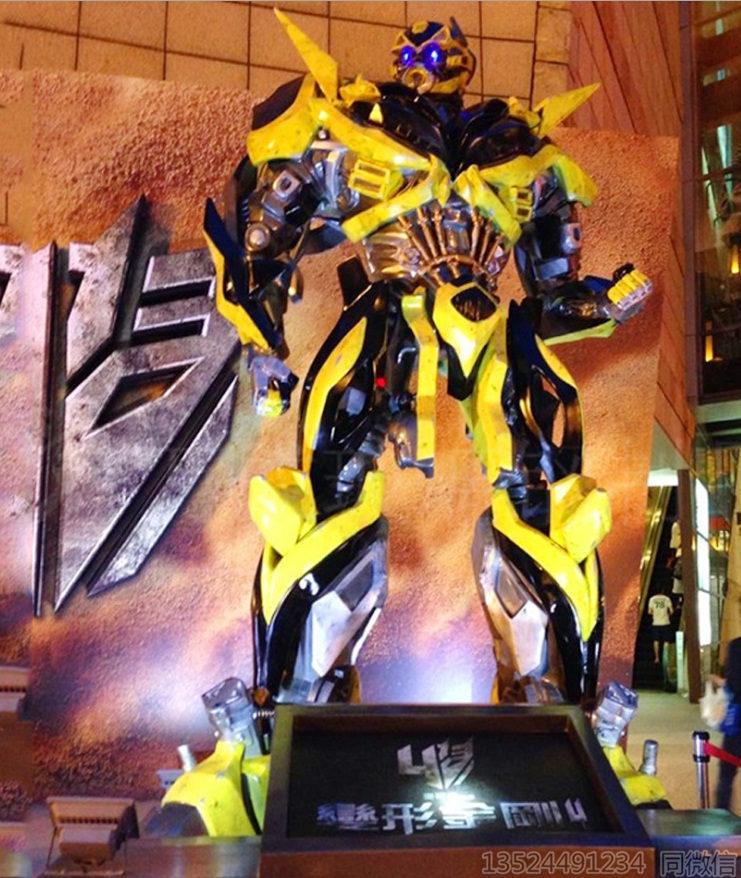 阜阳万达机器人大黄蜂雕塑 变形金刚擎天柱摆件定制