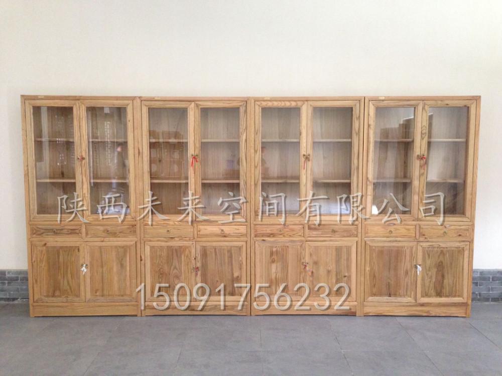 木工做電腦桌帶書柜圖、未來空間(在線咨詢)、書柜