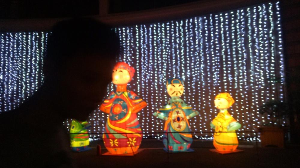 黄山灯光、上海漫波、梦幻灯光秀机械蘑菇树