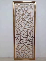 红古铜不锈钢屏风、揭阳市不锈钢屏风、锢雅精雕金属制品