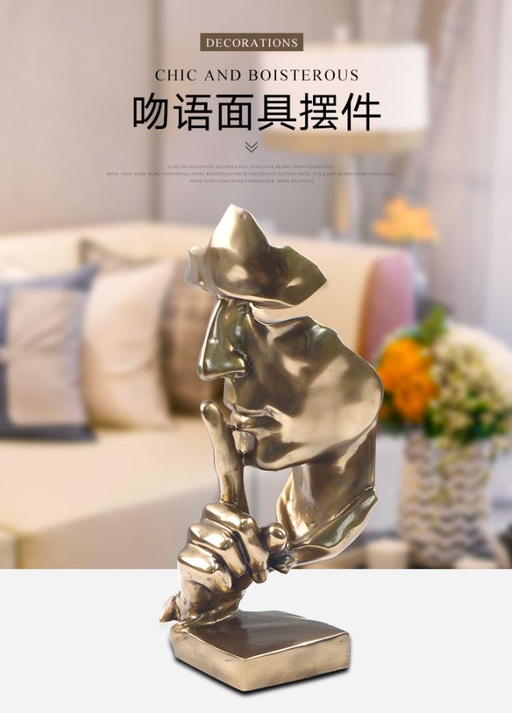 荔姿家居厂家批发欧式办公室家居装饰品 冷铸铜吻语摆件 可定制