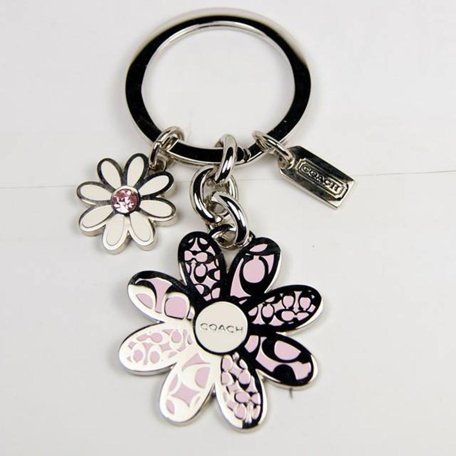 金属珐琅钥匙扣定做,玫瑰花朵钥匙扣挂件,广东钥匙链生产厂