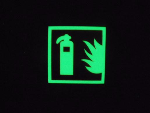 消防警示标示牌、消防栓标牌、火警报警标识夜光 pvc地贴膜带背胶