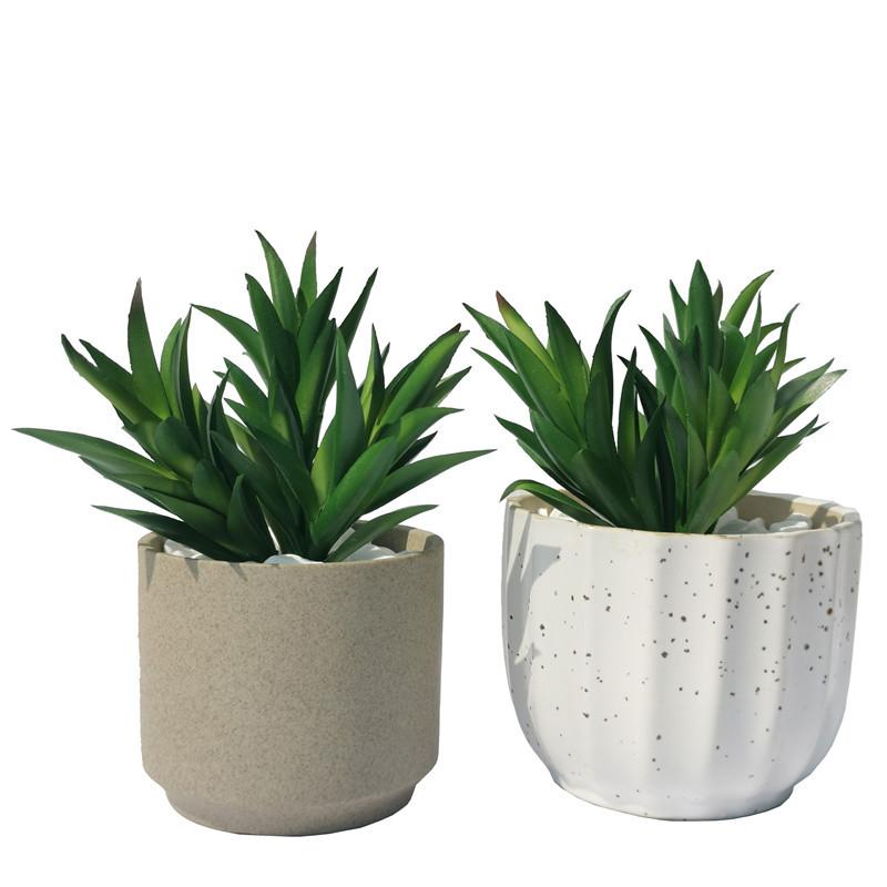 仿真多肉植物盆栽 綠植組合拼盤裝飾盆景3D塑膠花相框DIY素材裝飾