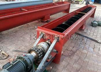 双轴螺旋输送机 鸿成环保供应 U型管式水泥螺旋上料机 粉体螺旋输送机