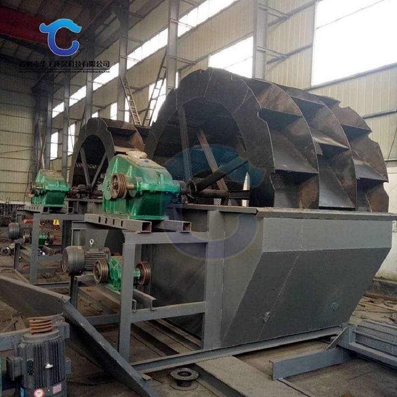 濟寧輪斗式洗砂機現場 多種型號沙石洗沙生產線配置