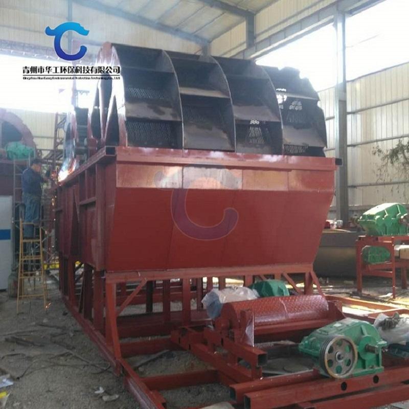 大型洗石粉洗沙生產線 高效輪斗式山砂洗砂機配置