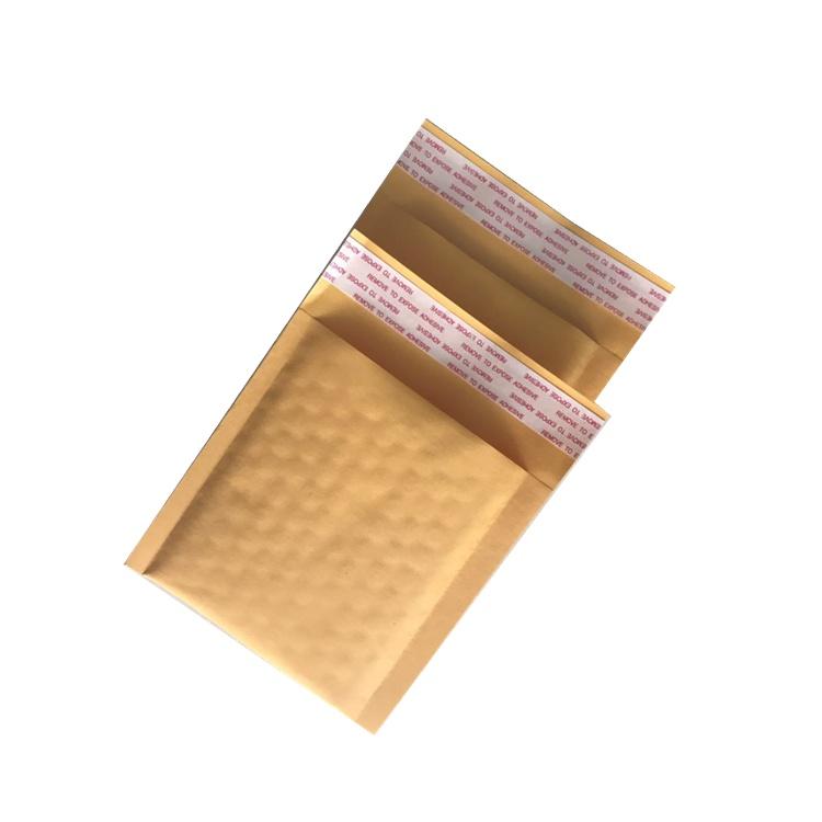 苏州众金定制黄色气泡袋定制牛皮纸气泡包装袋打包袋复合防震快递袋