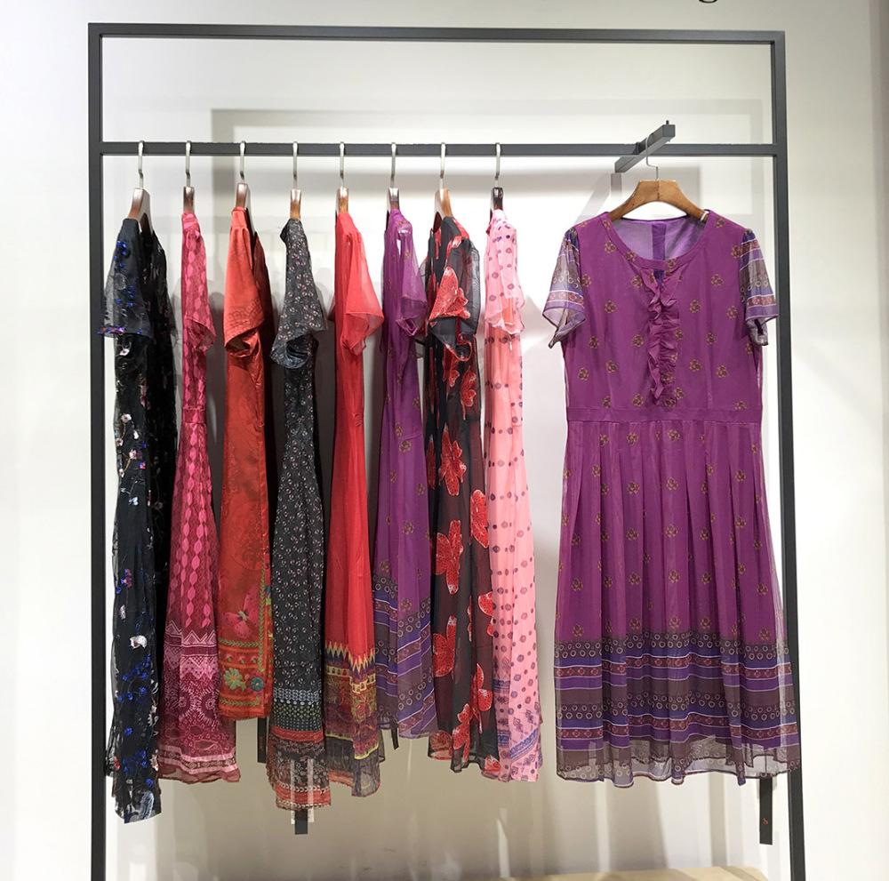 广州健凡折扣女装 夏季连衣裙 上衣 套装 女装地摊货源供应