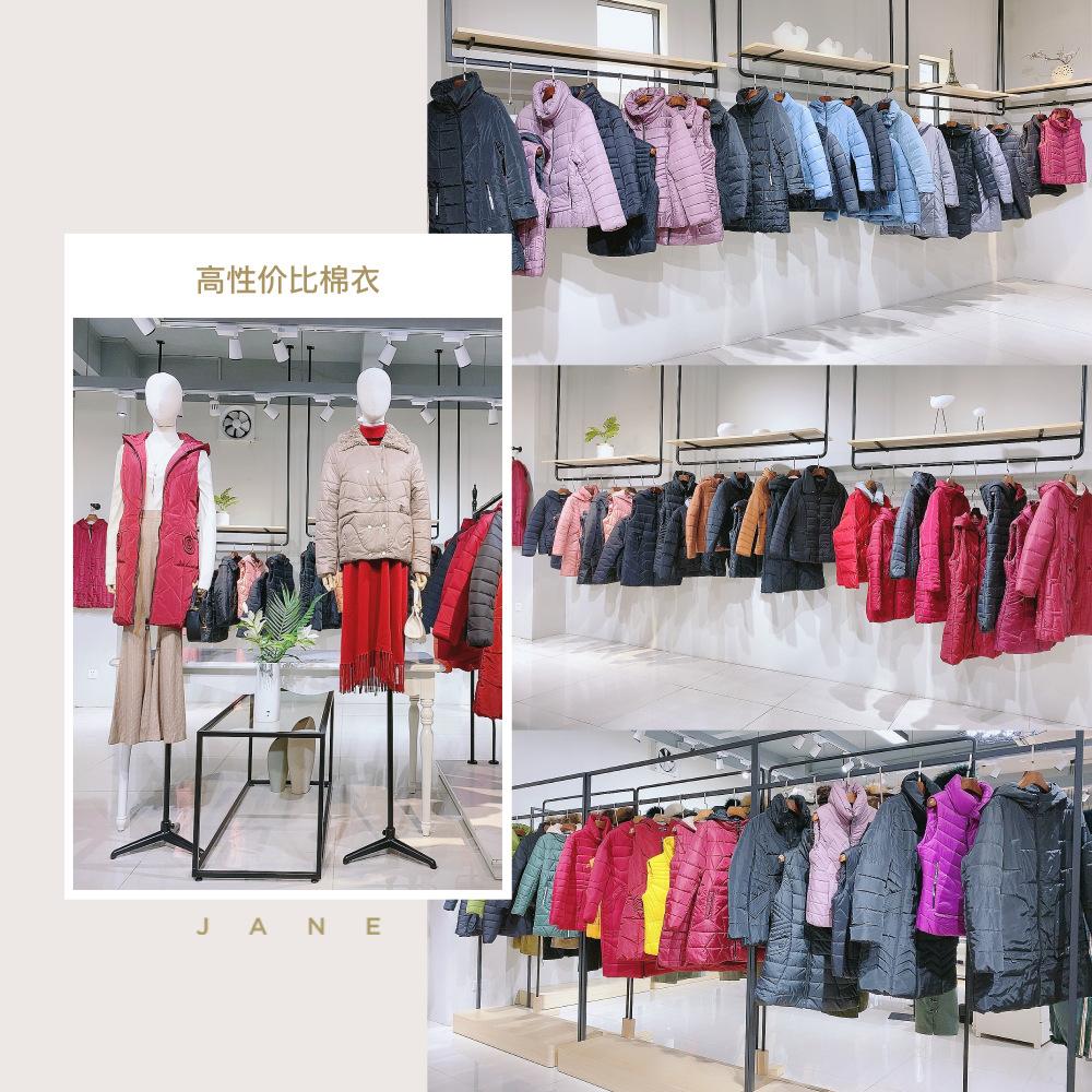 广州便宜女装货源 新红莲斯棉服 女式棉衣 中老年大码女装批发